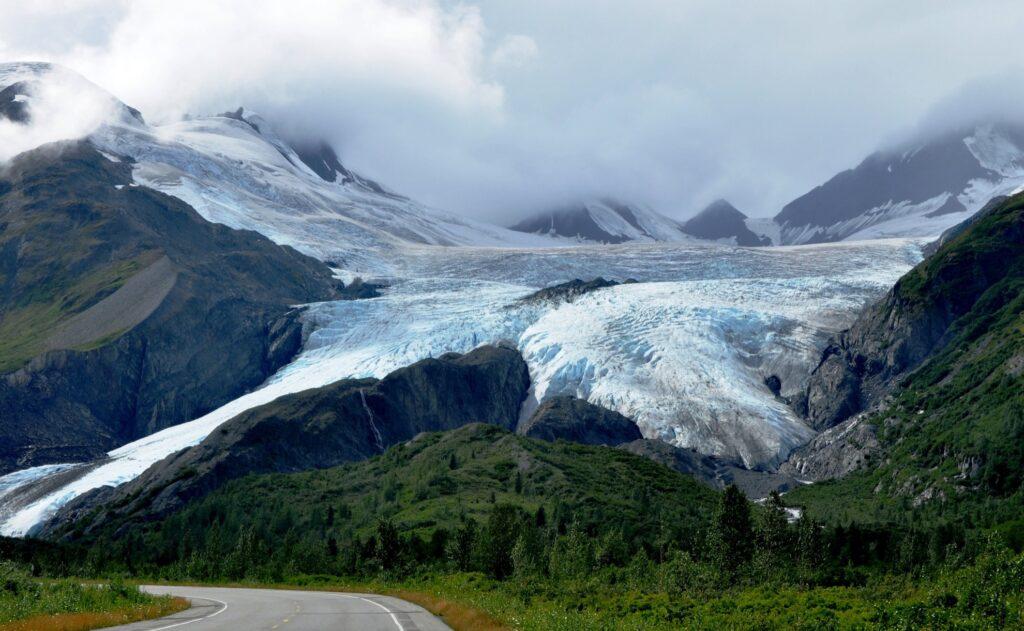 Worthington Glacier in Valdez, Alaska.