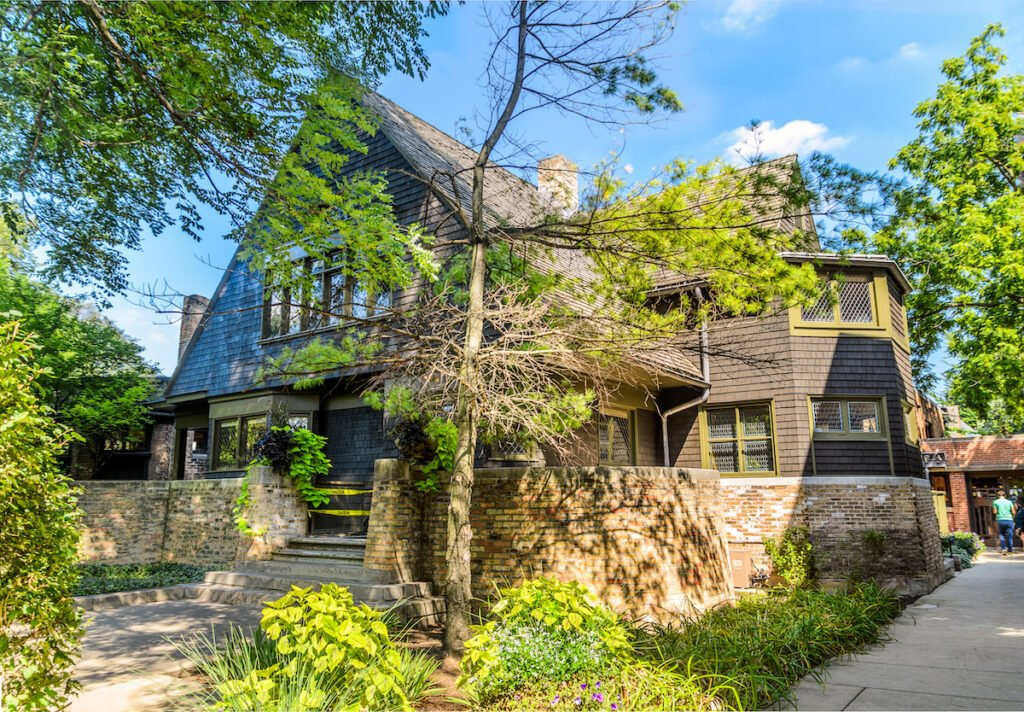 Wright's Home and Studio in Oak Park, Illinois.