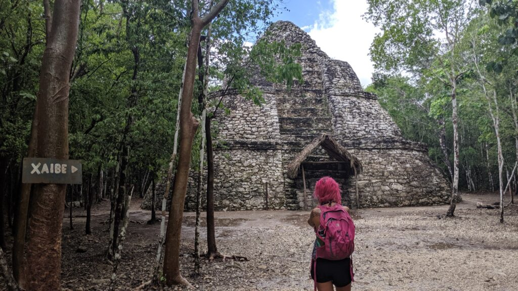 Xaibe, another Mayan structure in Coba.