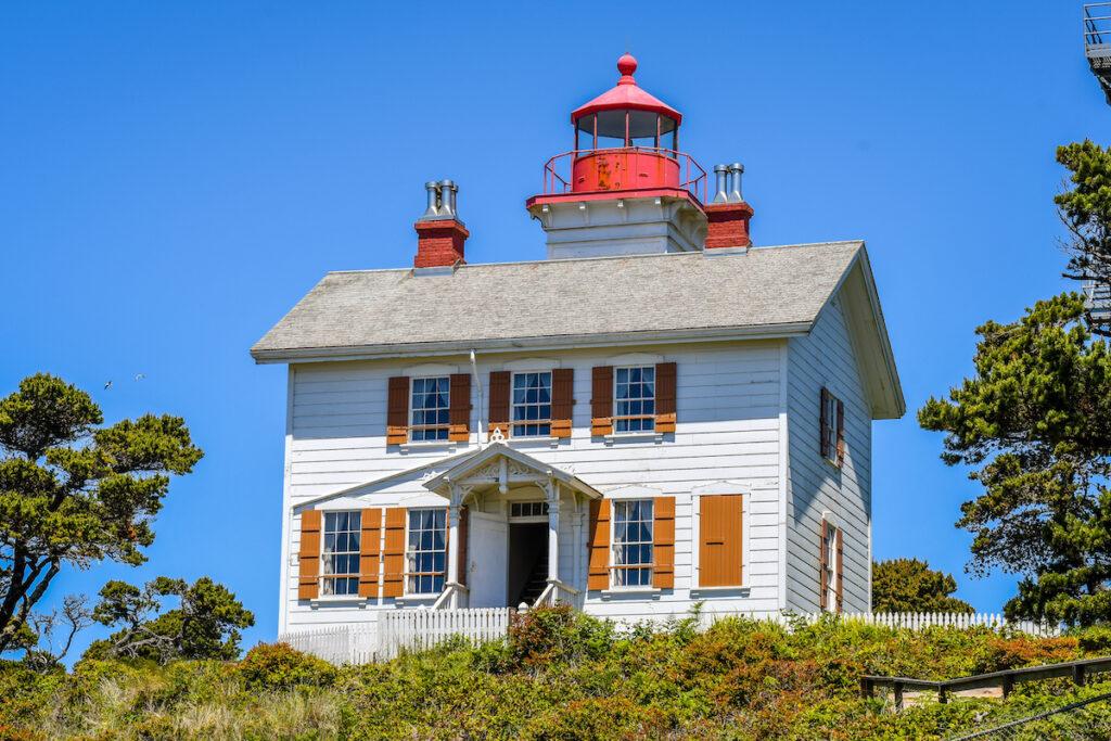 Yaquina Bay Lighthouse in Oregon.