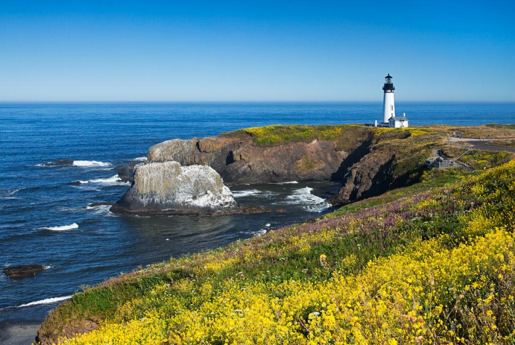 Yaquina Head Lighthouse in Oregon.