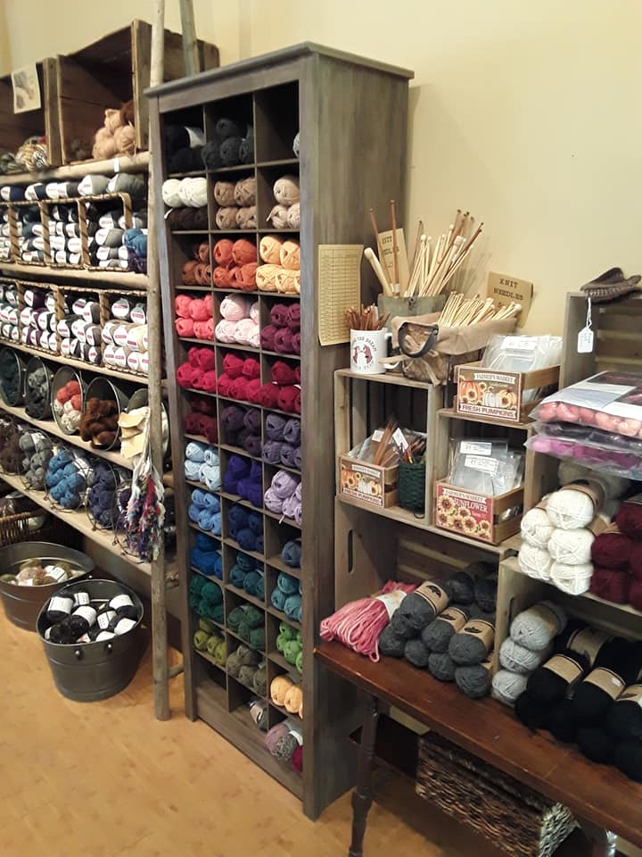Yarn and socks for sale at Living the Dream Alpaca Farm.