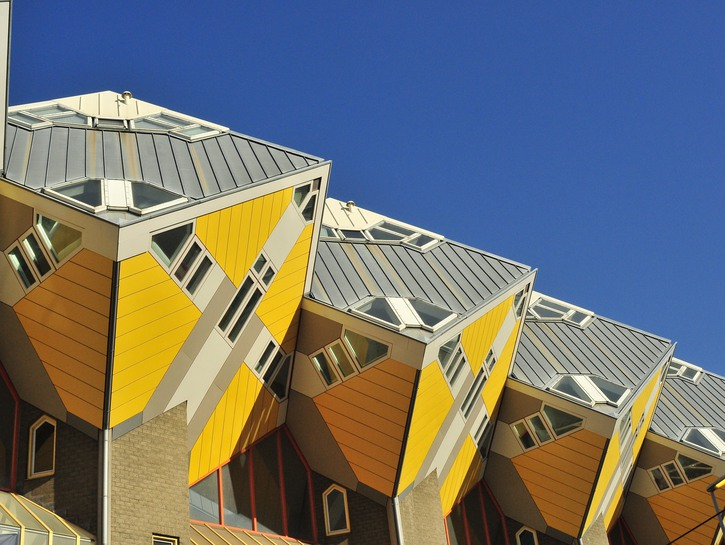 Yellow Cubehouses of Rotterdam.