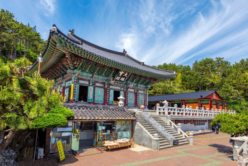 Yonggungsa Temple in Busan, South Korea.