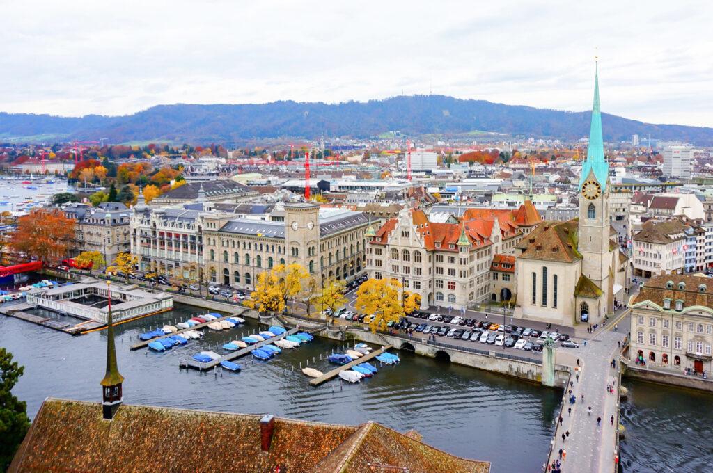 Zurich, Switzerland, during the fall.