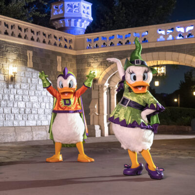 Halloween characters at Disney World.