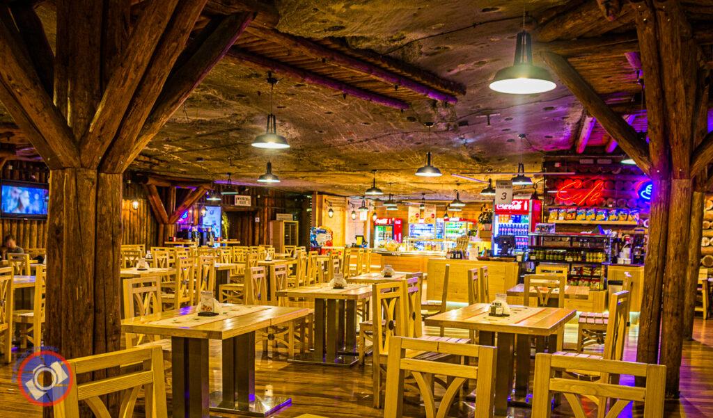 The underground restaurant.