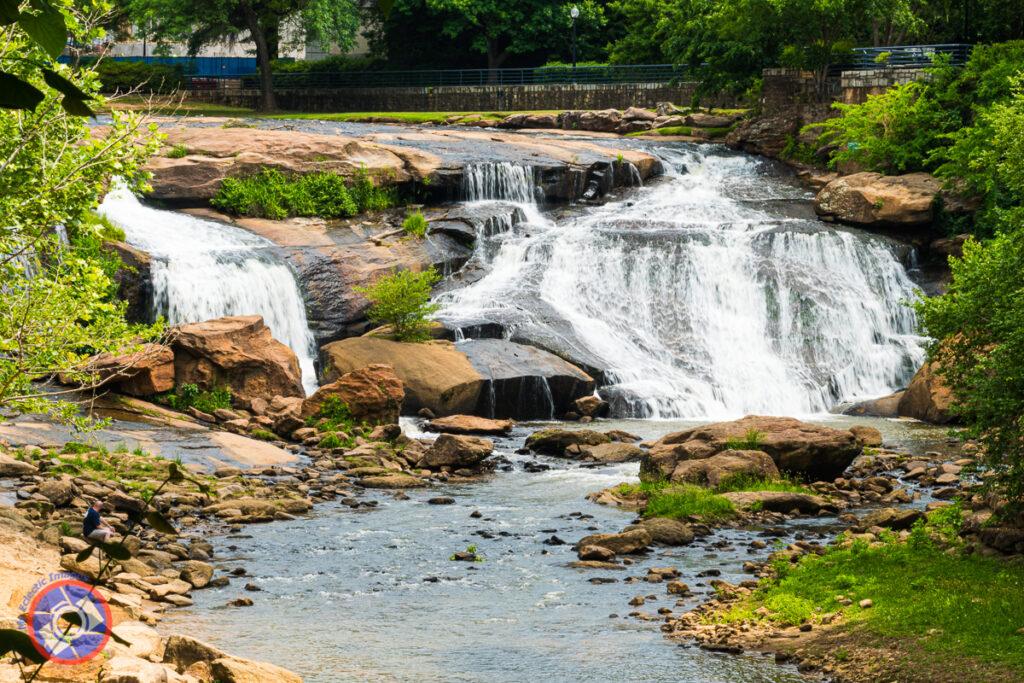 Reedy River at Falls Park, Greenville.