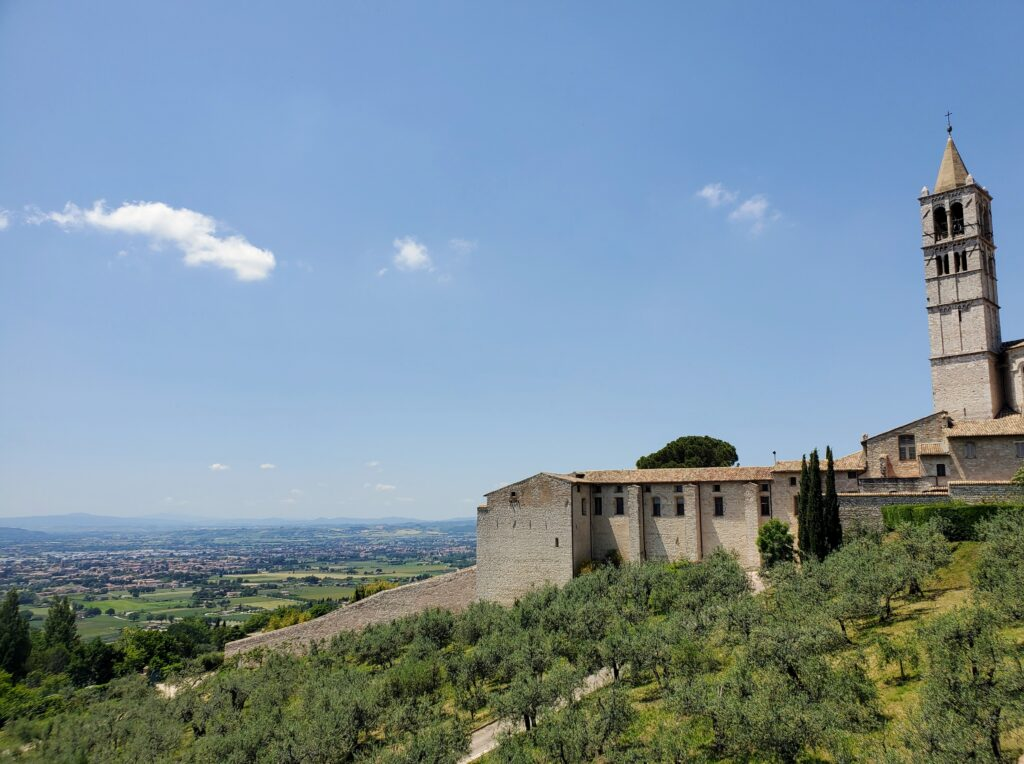 View of Assisi from the Saint Francis Basilica. Assisi, Italy is one of the best international small towns