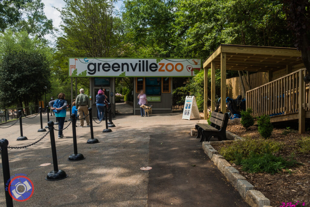 Greenville Zoo entrance.