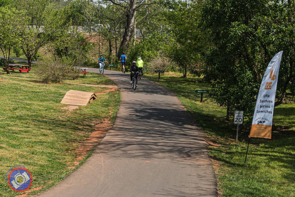Swamp Rabbit Trail in Greenville.