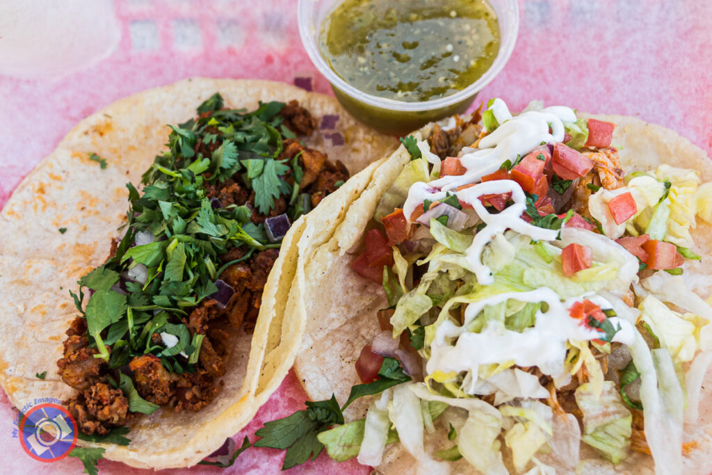 Tacos iš Papi's Tacos.