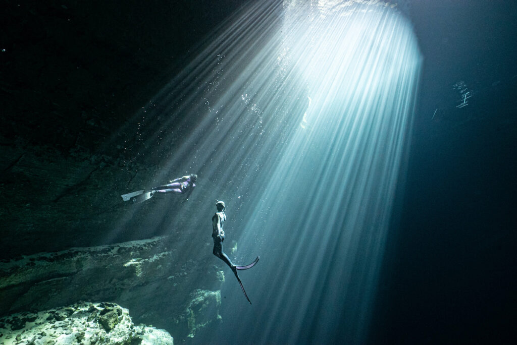 Divers in Kilsby Sinkhole.