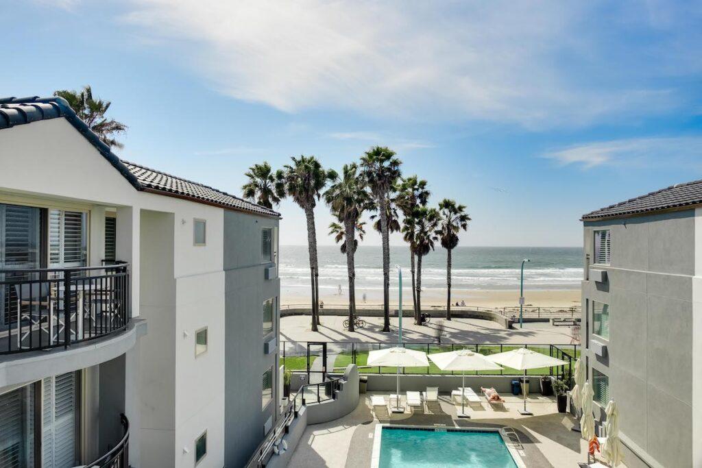 Beach view at Ocean Park Inn.
