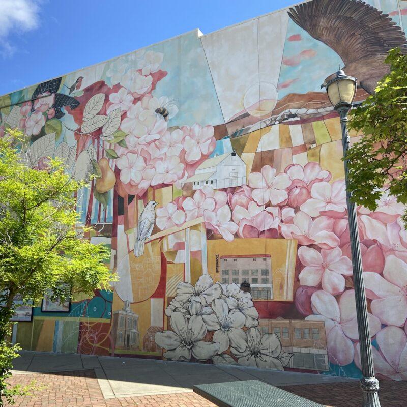 Mural in downtown Medford.