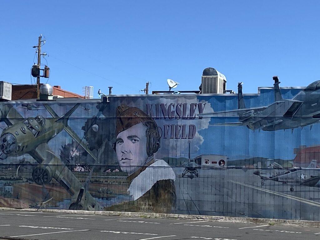 A mural in Klamath Falls, Oregon.