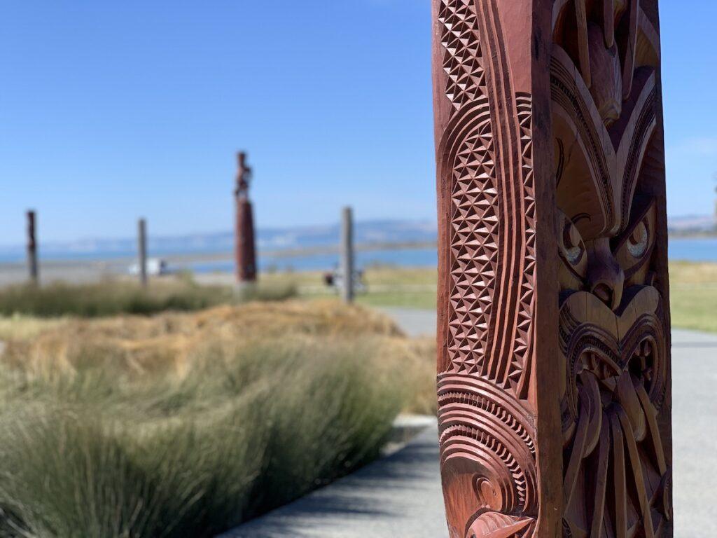 Maori Compass in Napier, New Zealand.