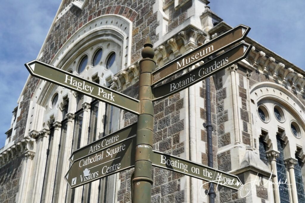 Street signs in New Zealand.