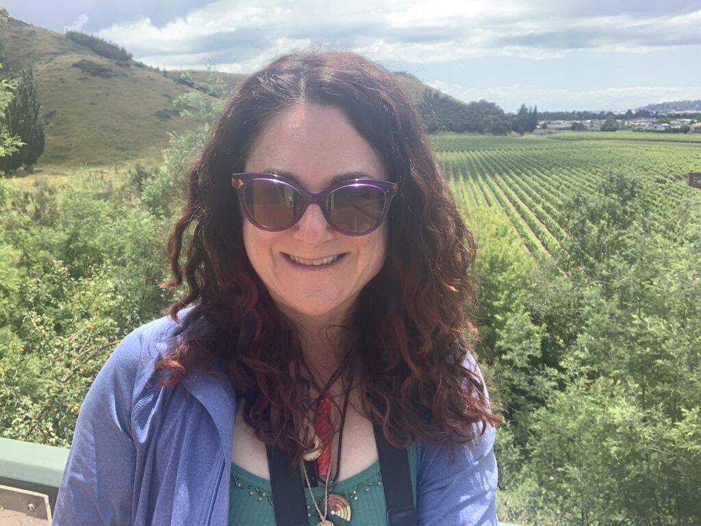 Heather Markel at Mission Estate Winery.