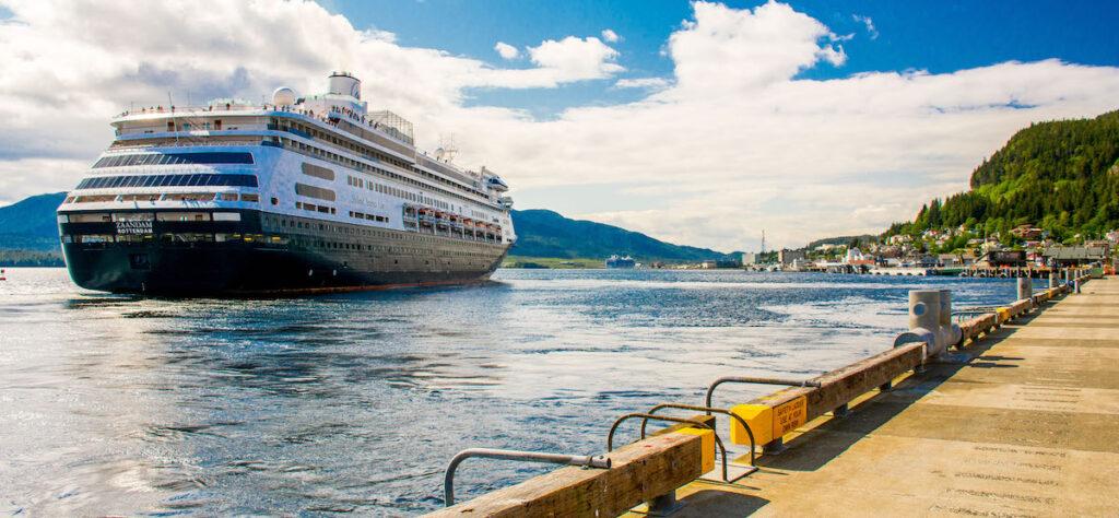 Cruise ship off the Ketchikan, Alaska, coast.
