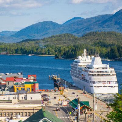 Cruise ship in Ketchikan, Alaska.