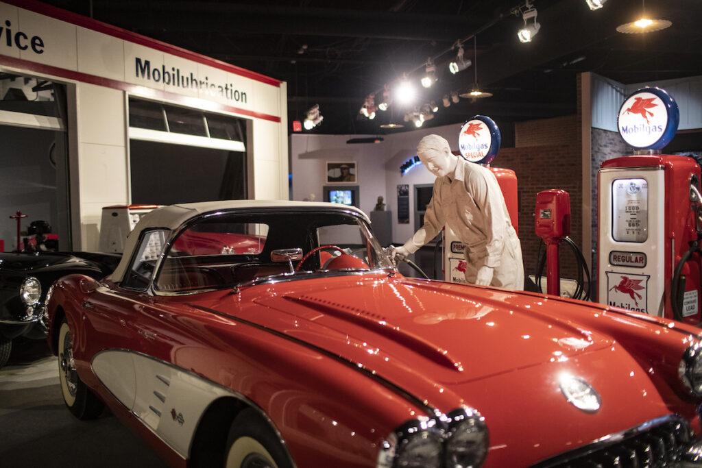 Red corvette, National Corvette Museum.