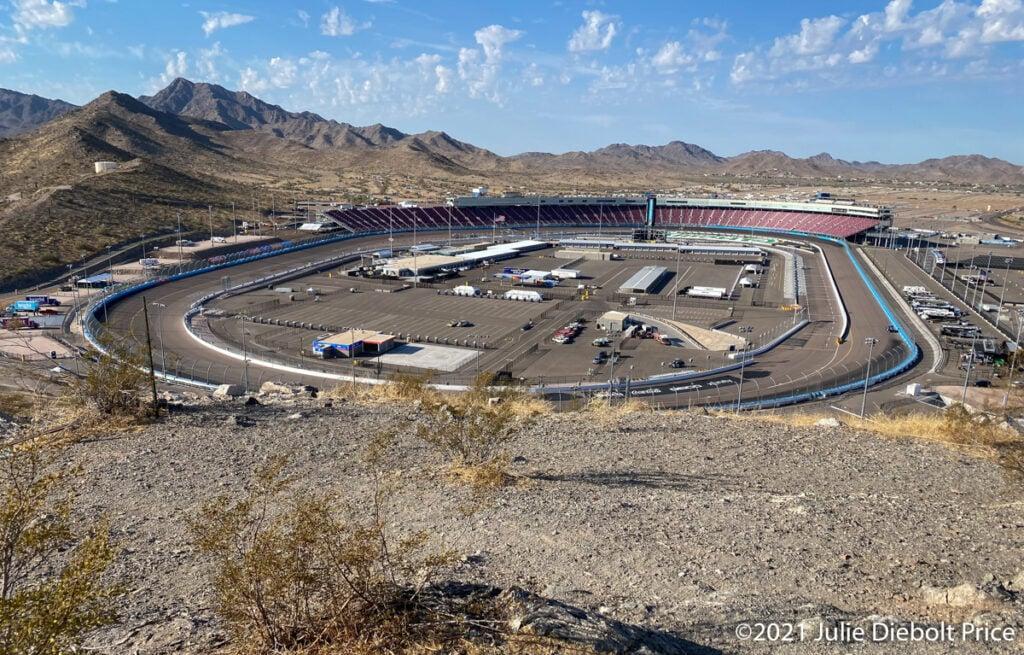 Phoenix Raceway from Monument Hill.