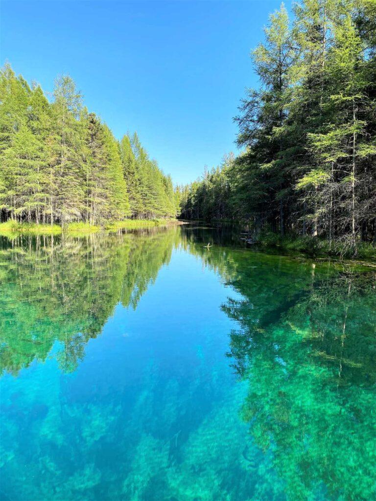 Big Springs, or Kitchi-ti-kipi, in Michigan.