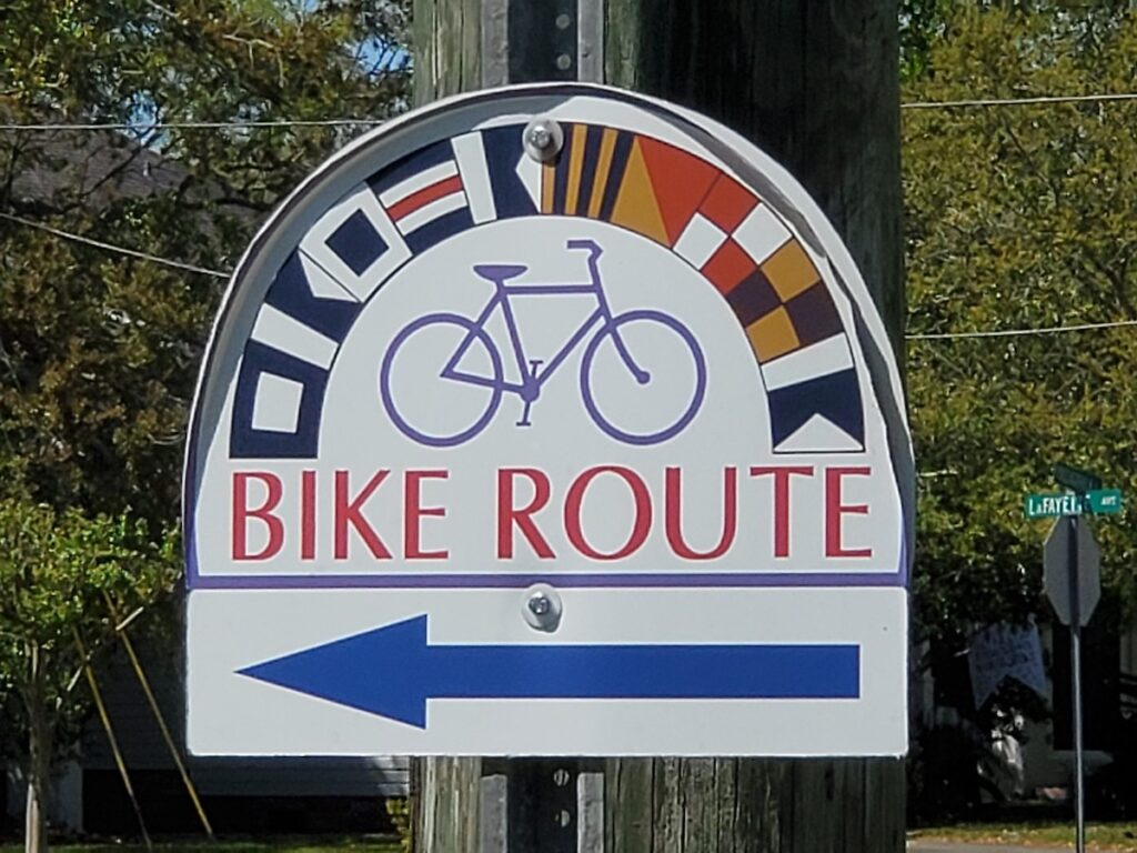 A bike route in Pascagoula.