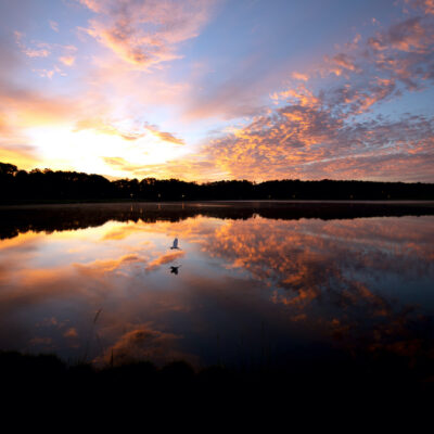 Bonita Lakes at sunset.