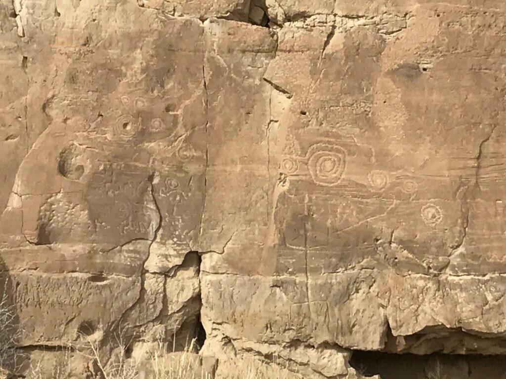 Petroglyphs in the park.