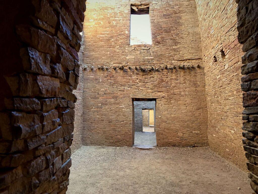 The interior of Pueblo Bonito.
