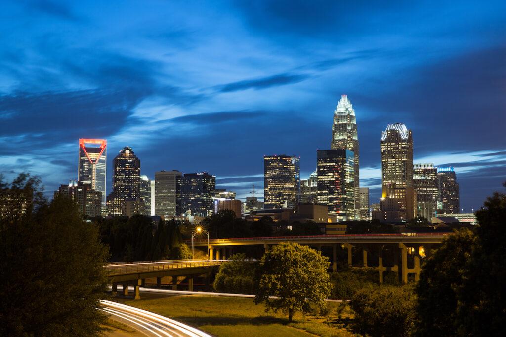 Skyline of Charlotte, North Carolina.