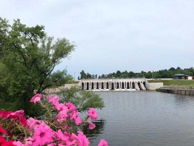Dam in Crosslake, MN.