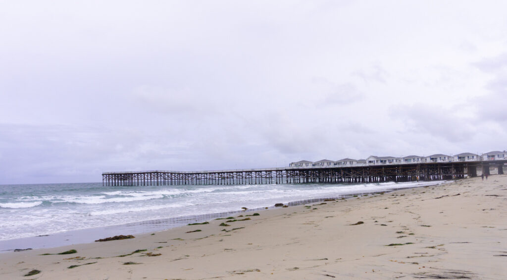 Crystal Pier in Pacific Beach, CA.