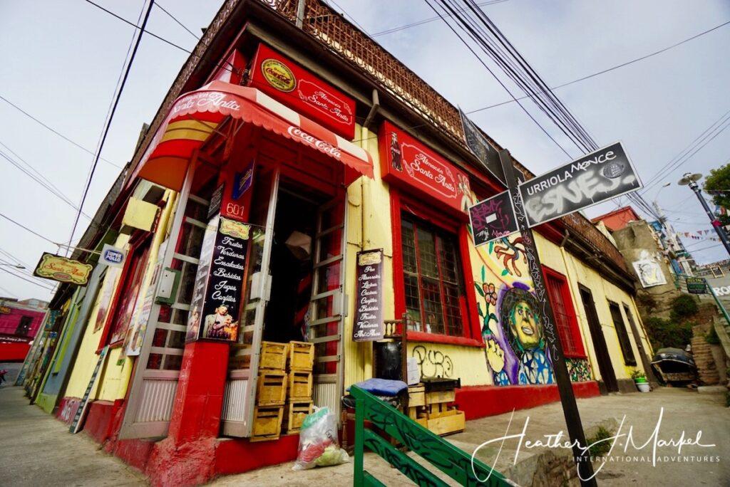 Street corner in Valparaiso, Chile.