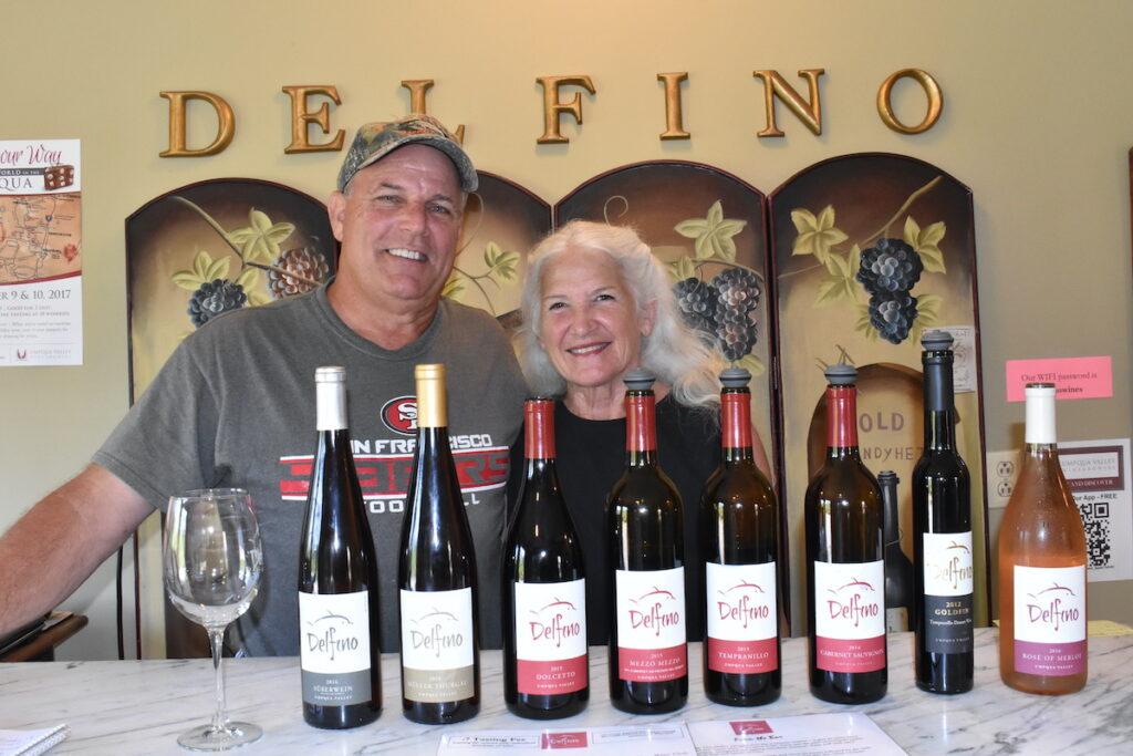 Jim and Terri Delfino, winemakers in Oregon.