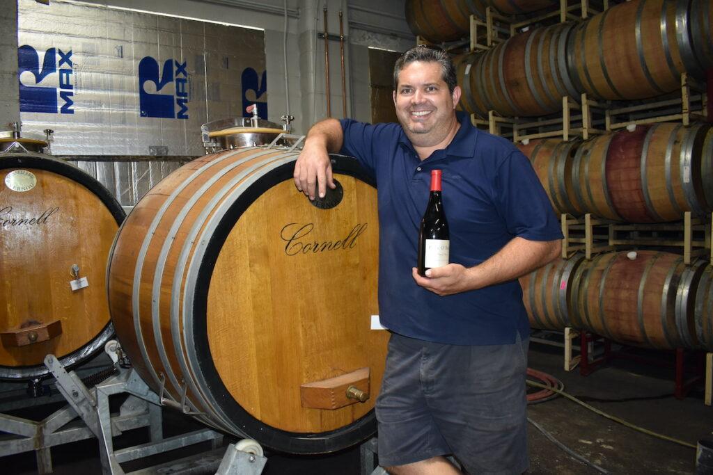 Scott O'Brien Kelley at Paul O'Brien Winery.
