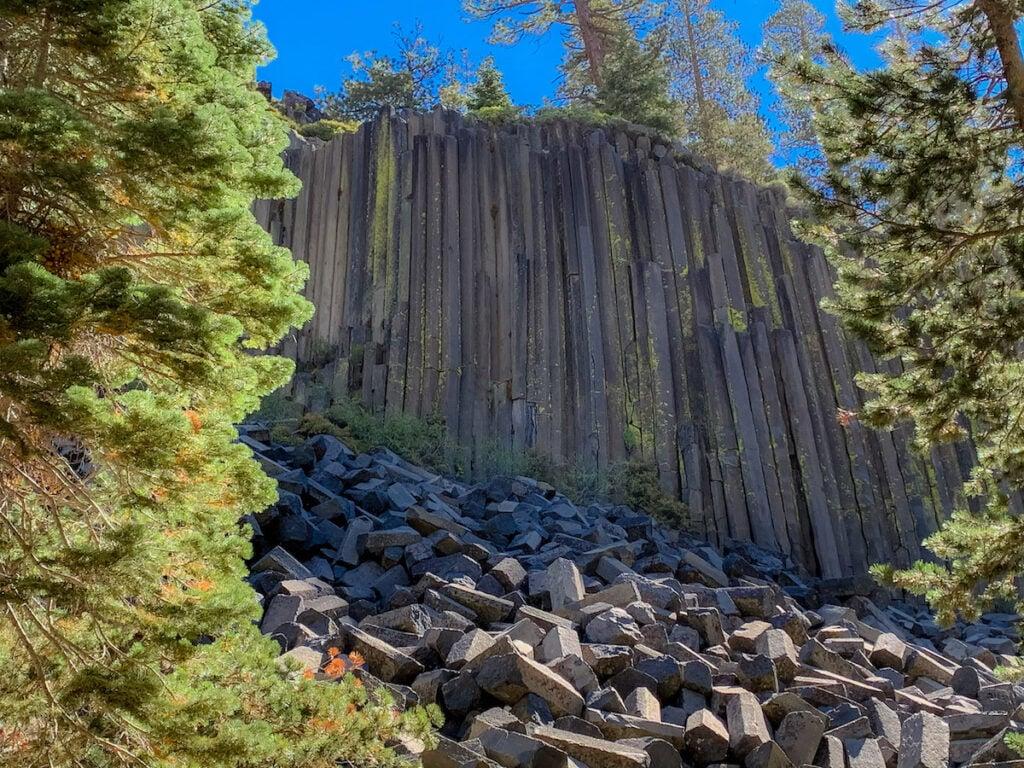Basalt formation at Devils Postpile.