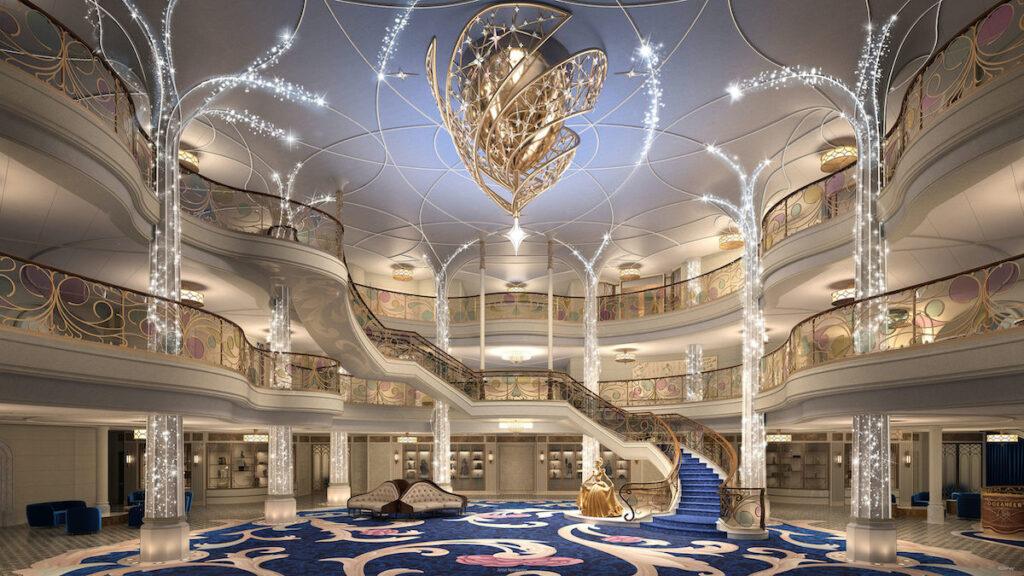 The Grand Hall on the Disney Wish.