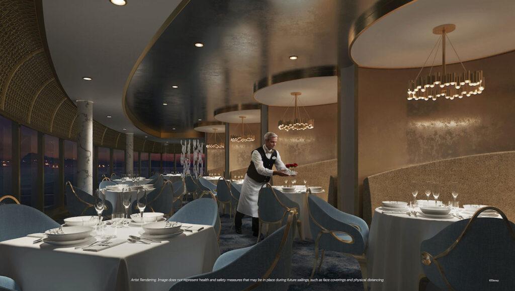 Enchante Restaurant on the Disney Wish.