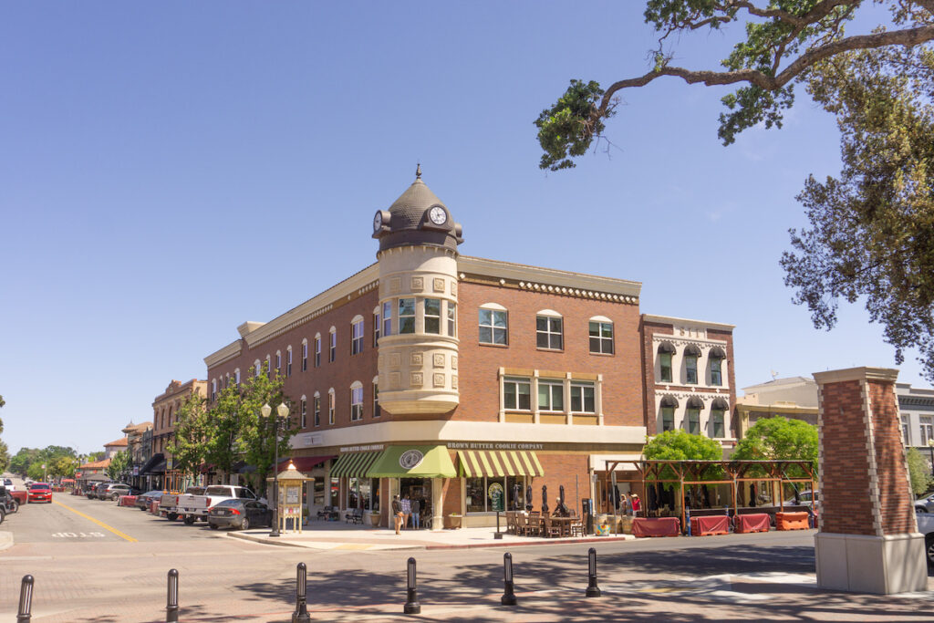 Downtown Paso Robles in California.
