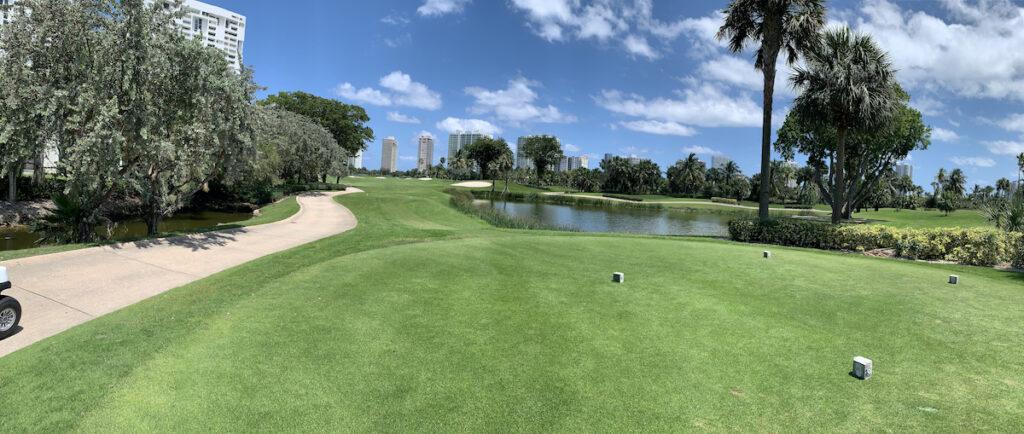 A golf course in Miami.
