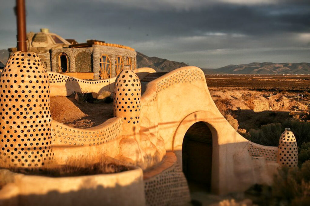Earthship Biotecture near Taos, New Mexico.