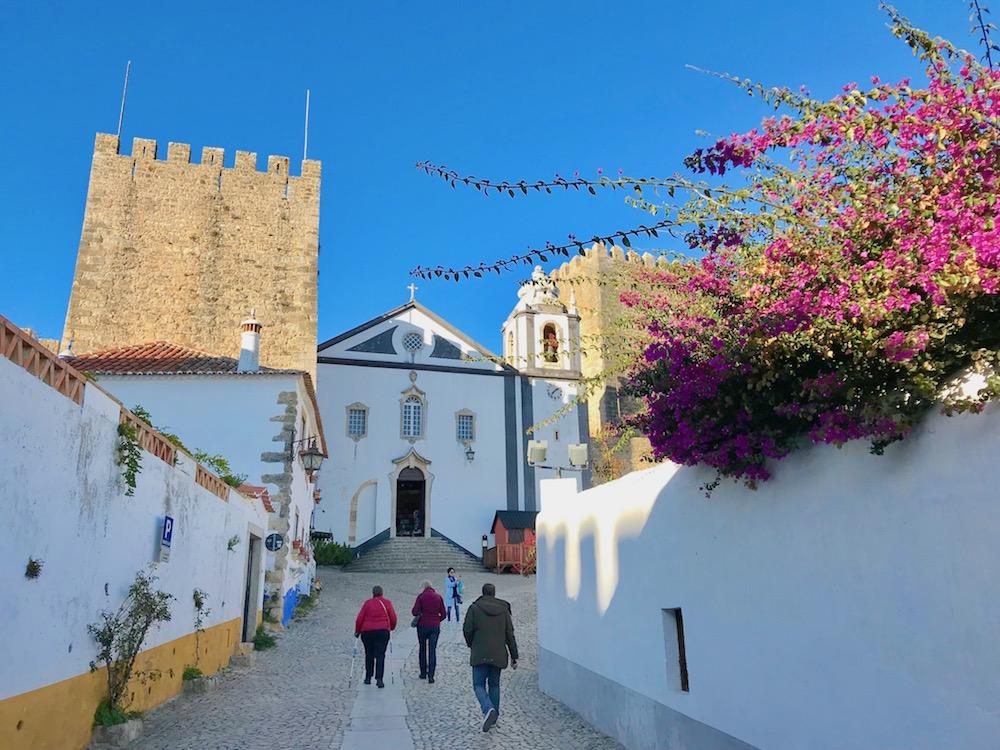 Walking in Obidos, Portugal.
