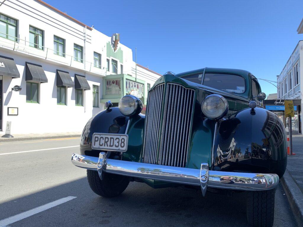 Car at Art Deco Festival, Napier, New Zealand.