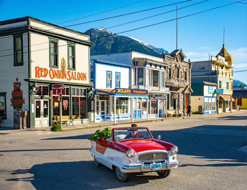 Skagway, Alaska old town downtown Red Onion Saloon