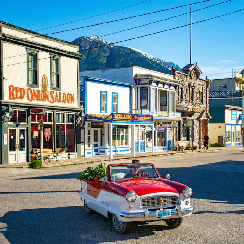Skagway, Alaska historic district downtown Red Onion Saloon