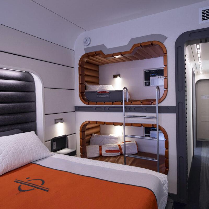 Galactic Starcruiser hotel room.