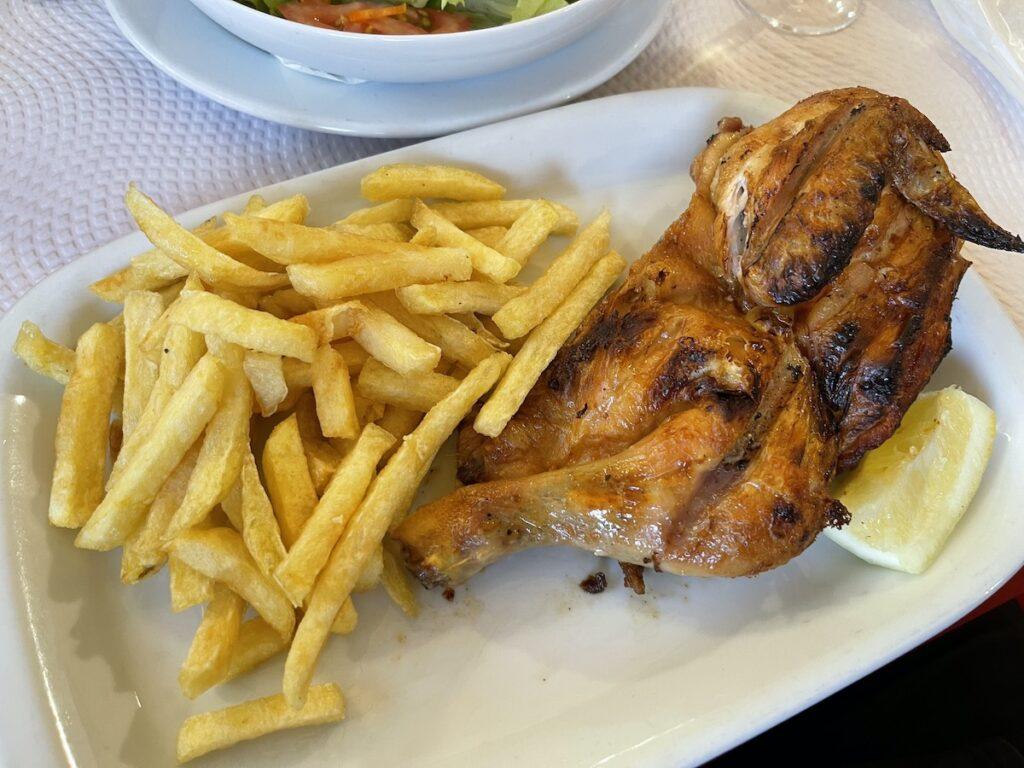 Grilled chicken, Jardim de Frangos, Cascais, Portugal.